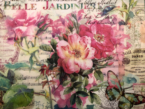 Stamperia Rice Paper A3 - Wild Roses