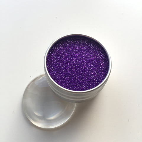 Craft Box Minis - Translucent Micro Beads Purple