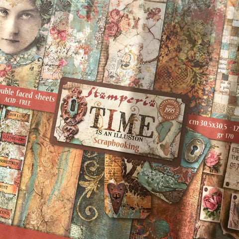 Stamperia 12x12 Paper Pack - Time Is An Illusion