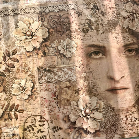 Stamperia Rice Paper A3 - Lace Lady