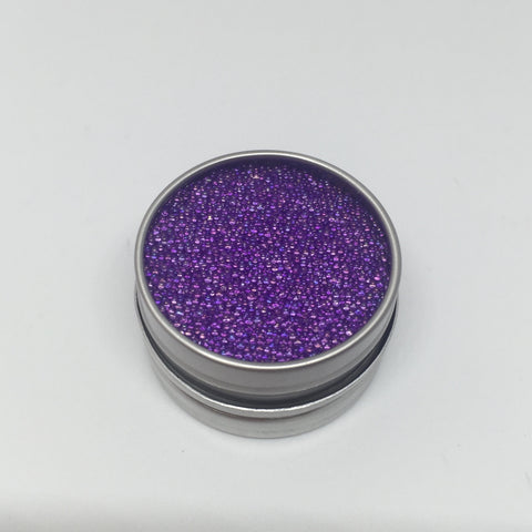 Craft Box Minis - Iridescent Micro Beads True Purple