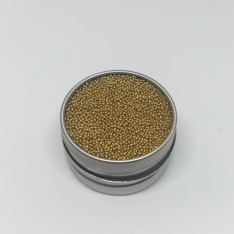 Craft Box Minis - Metallic Micro Beads Yellow Gold