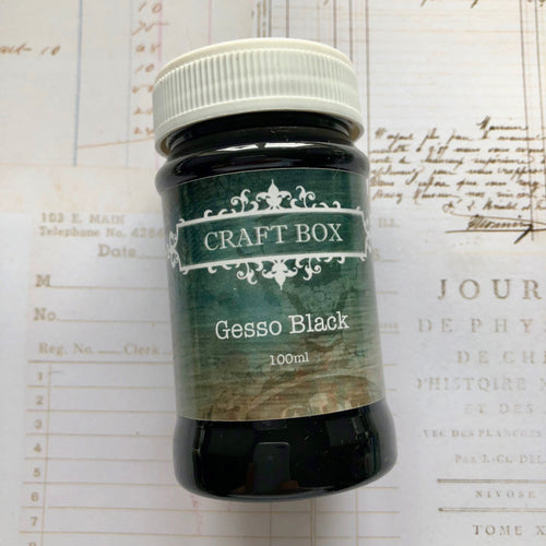 Craft Box Black Gesso 100ml