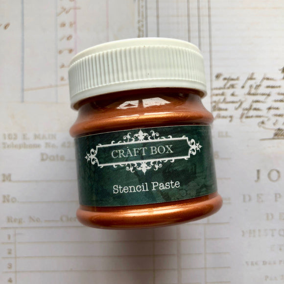 Craft Box Stencil Paste - copper 50ml