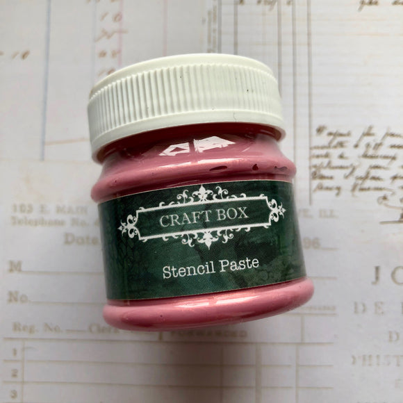 Craft Box Stencil Paste - pearl pink