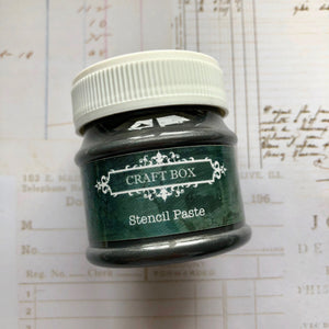 Craft Box Stencil Paste - pearl black 50ml