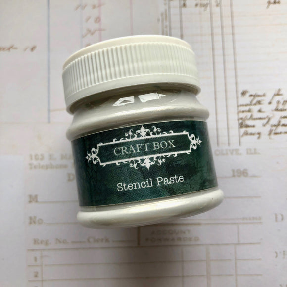 Craft Box Stencil Paste - silver 50ml