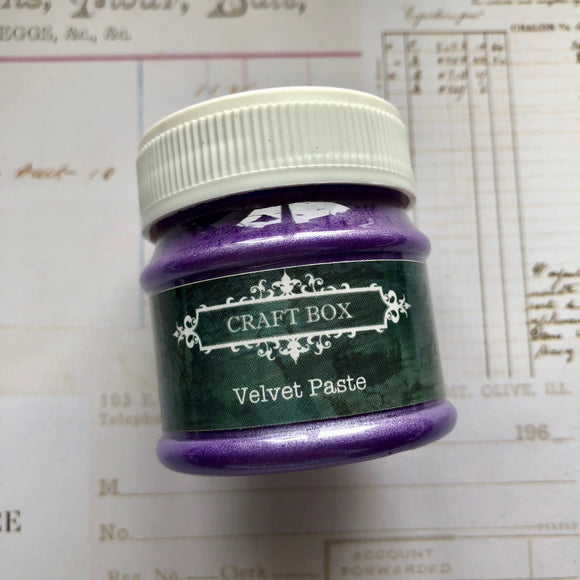 Craft Box Velvet Paste - violet blue 50ml