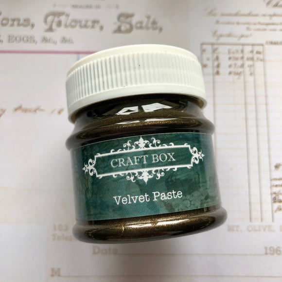 Craft Box Velvet Paste - old brass 50ml