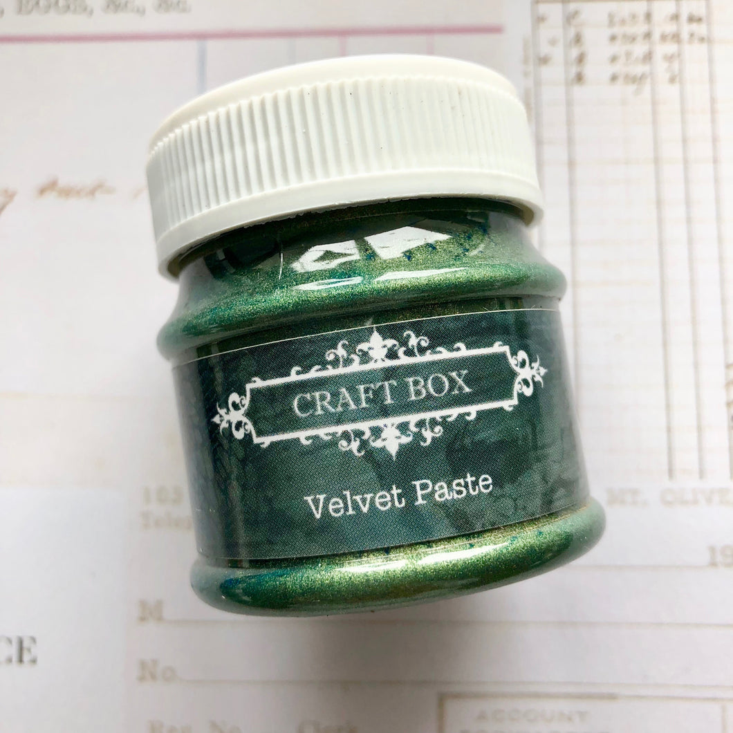 Craft Box Velvet Paste - green 50ml