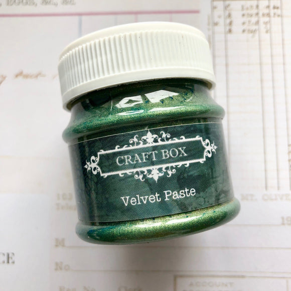 Craft Box Velvet Paste - green
