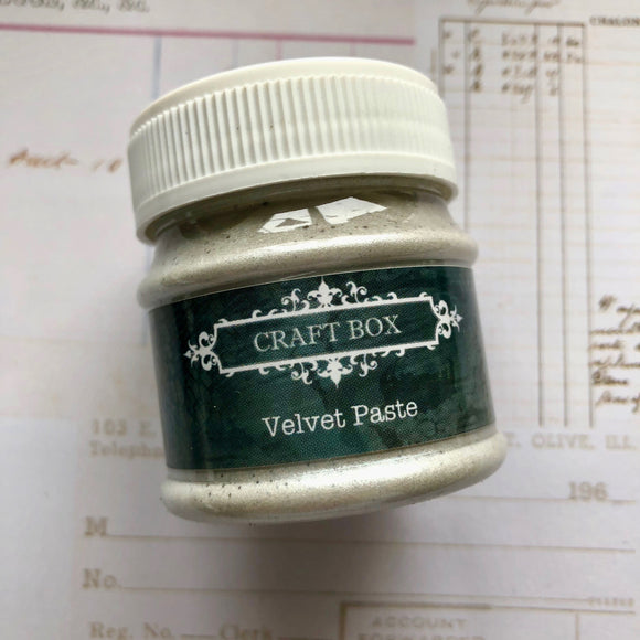 Craft Box Velvet Paste - pearl 50ml