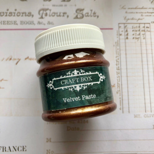 Craft Box Velvet Paste - brass 50ml
