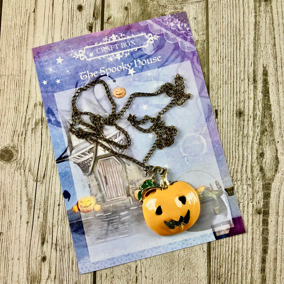 October Replay - Pumpkin Necklace