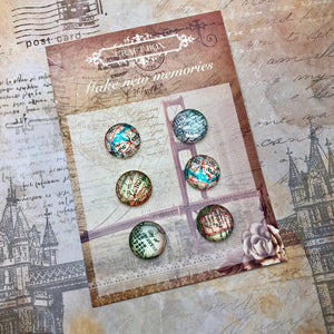 December Replay - Travel Glass Cabochons