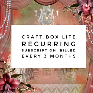 Craft Box Lite 3-Month Recurring Subscription (billed every 3 months, incl. UK shipping)