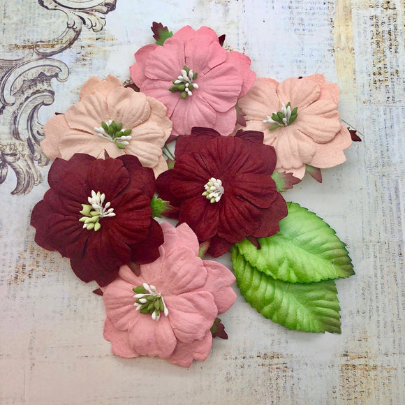 Craft Box Flowers Florence - Blush & Red