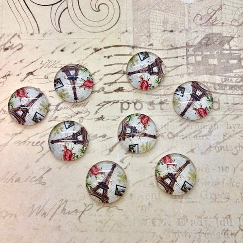 Travel Often - Paris Glass Cabochons