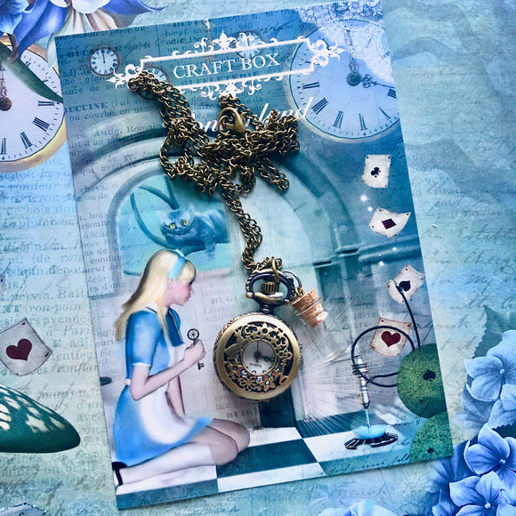 Wonderland Craft Box - Drink Me Pocket Watch