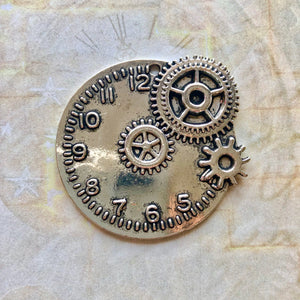 Steampunk City - Clock and Cog (Silver)