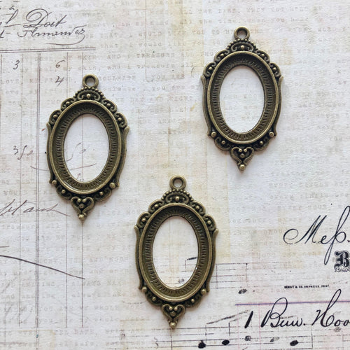 Vintage Treasures - Brass Oval Bezels 2