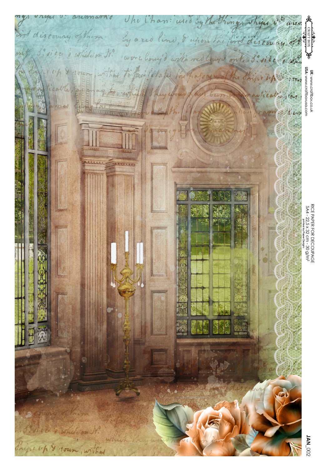 Decoupage Rice Paper - Jane's Window (A4)