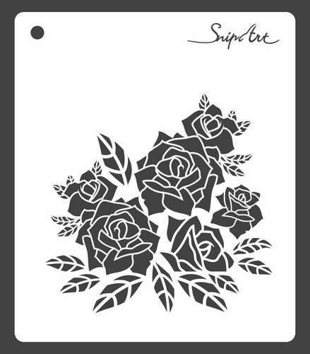 SnipArt Stencil: BITD Roses