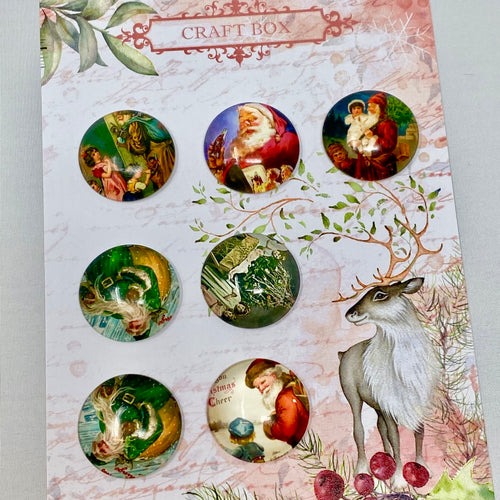 Christmas Glass Cabochons Set