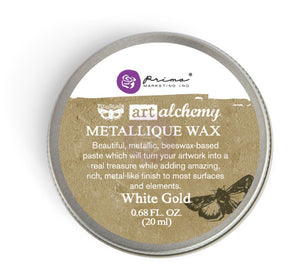 Prima Art Alchemy Metallique Wax - White Gold