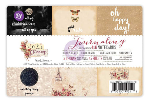 4x6 Journaling Cards - Love Clippings