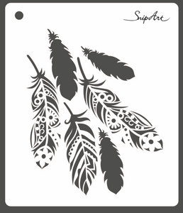 SnipArt Stencil: Feathers