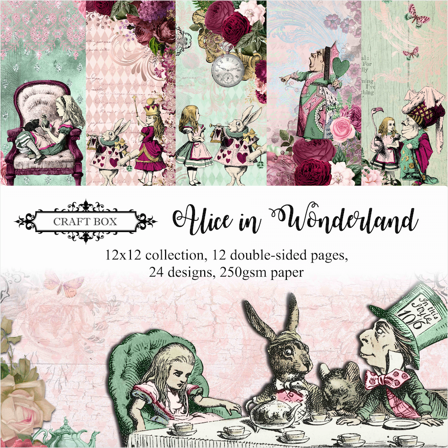 Alice in Wonderland 12x12 Scrapbooking Collection