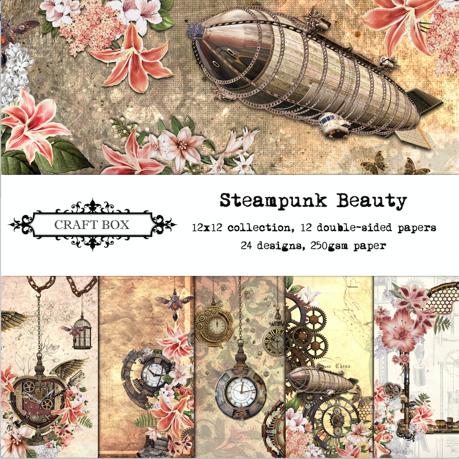 Steampunk Beauty 12x12 Scrapbooking Collection