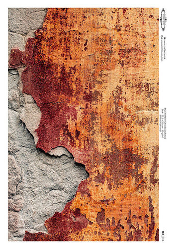 Rice Paper - Rusty Chipped Wall (A4)