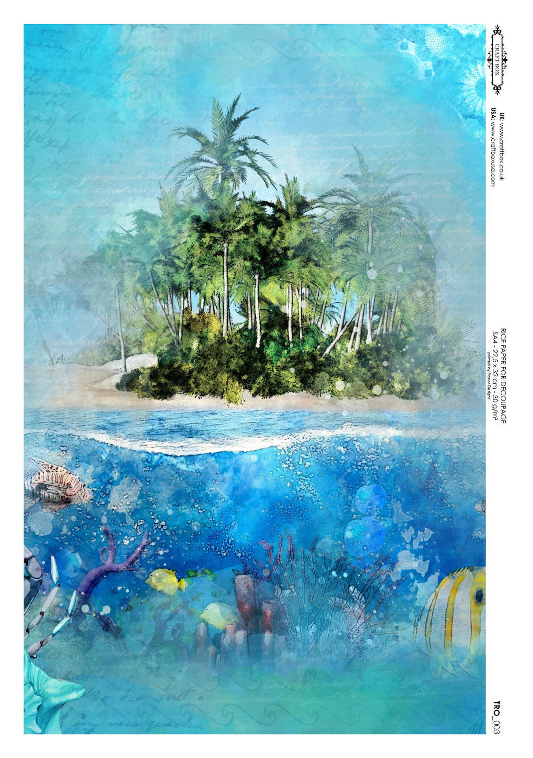 Decoupage Rice Paper - Sun and Sea Paradise (A4)