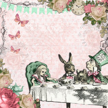 Load image into Gallery viewer, Alice in Wonderland 6x6 Paper Pad