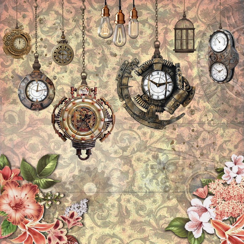 BACK IN! Steampunk Beauty 6x6 Paper Pad