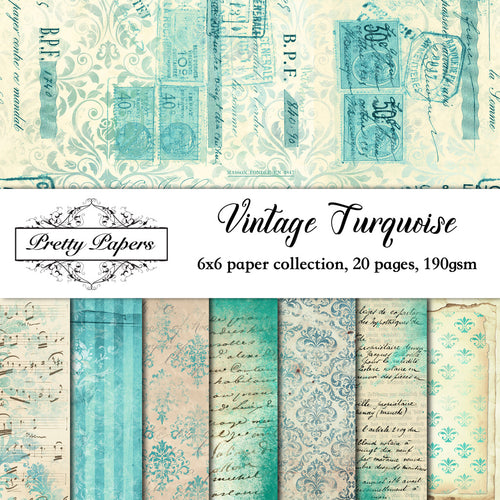 Vintage Turquoise Paper Pad (size options available)