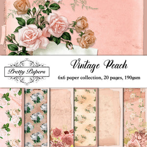 Vintage Peach Paper Pad (size options available)