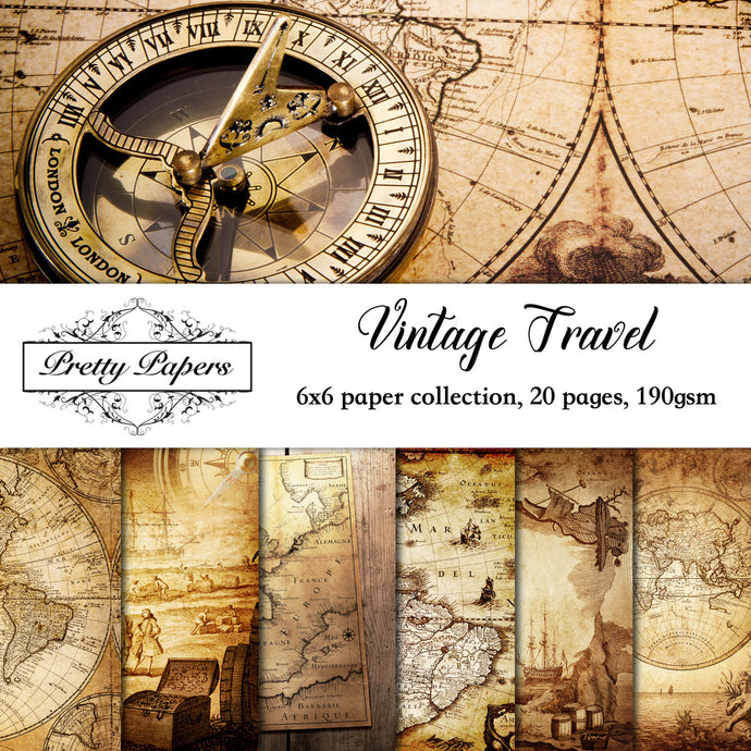 Vintage Travel Paper Pad (size options available)