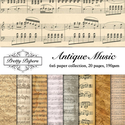 Antique Music Paper Pad (size options available)