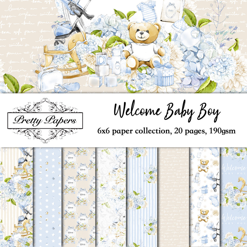 Welcome Baby Boy Paper Pad (size options available)