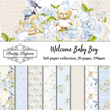 Load image into Gallery viewer, Welcome Baby Boy Paper Pad (size options available)