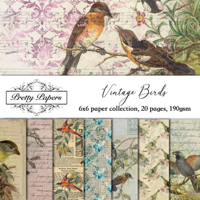 Vintage Birds Paper Pad (size options available)