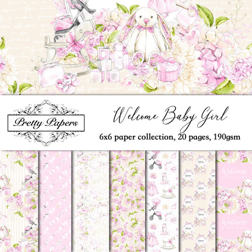 Welcome Baby Girl Paper Pad (size options available)
