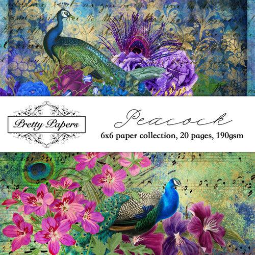 Peacock Paper Pad (size options available)