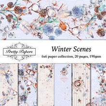 Load image into Gallery viewer, Winter Scene Paper Pad (size options available)