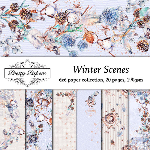 Winter Scene Paper Pad (size options available)