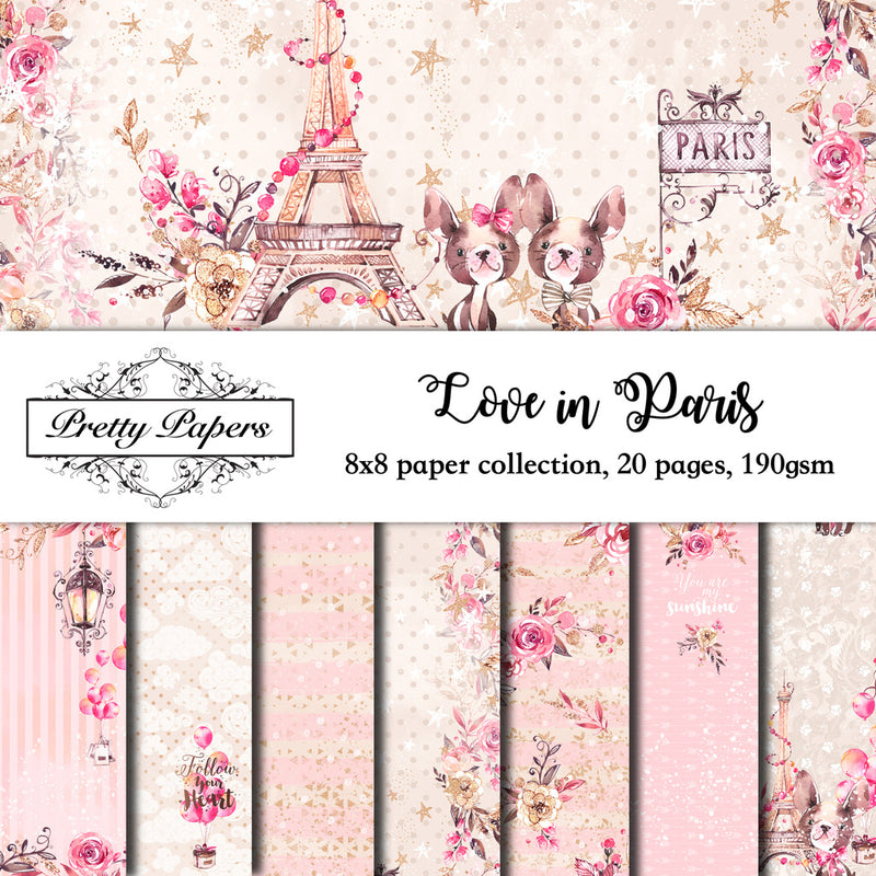 NEW! Love in Paris Paper Pad (size options available)