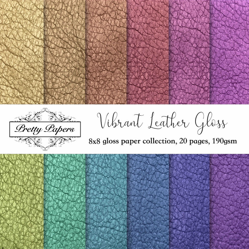 NEW! Vibrant Leather Gloss Paper Pad (size options available)